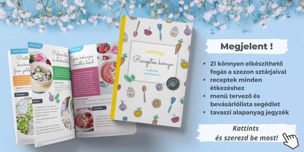 tavaszi receptek e-könyv receptekkel, alapanyagjegyzékkel és menü tervezővel