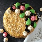 vaníliás torta felülnézetből