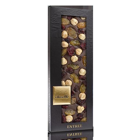 Tejcsokoládé: aranymazsola-vörösáfonya-Piemonte-i mogyoró