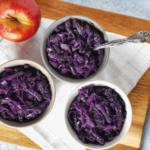 párolt almás lilakáposzta recept