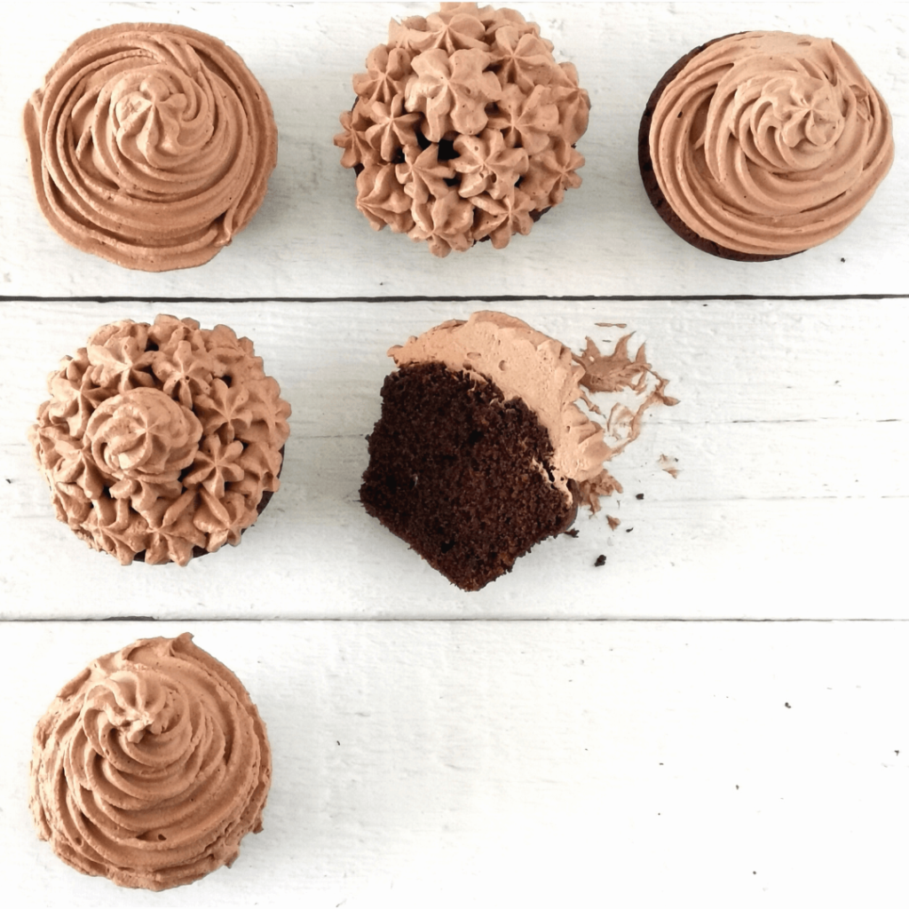 egyszerű rumos-csokis cupcake recept